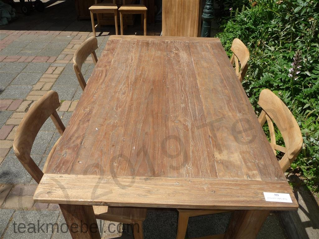 teak tisch aus altem holz 160 x 90 cm teakm. Black Bedroom Furniture Sets. Home Design Ideas