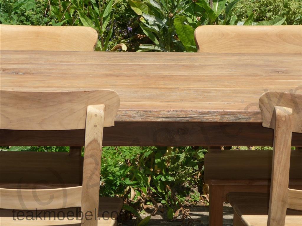 Teak Tisch aus altem Holz 160 x 90 cm | Teakmöbel.com