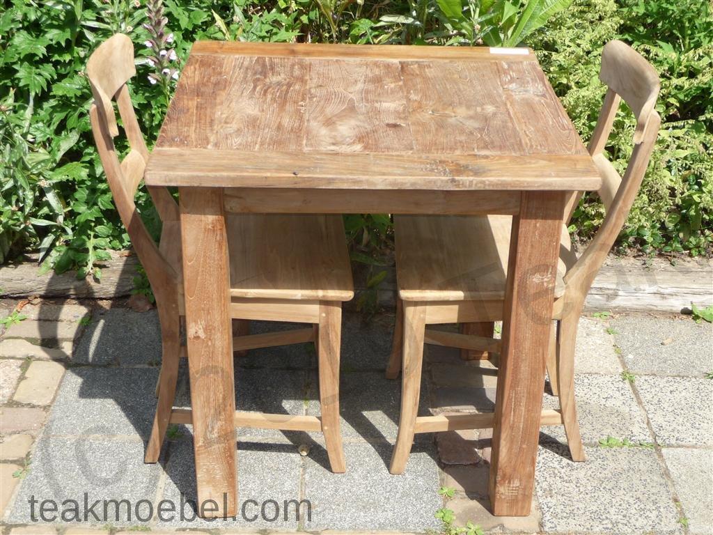 Teak Tisch Altes Holz 80 X 80 Cm   Bild 0