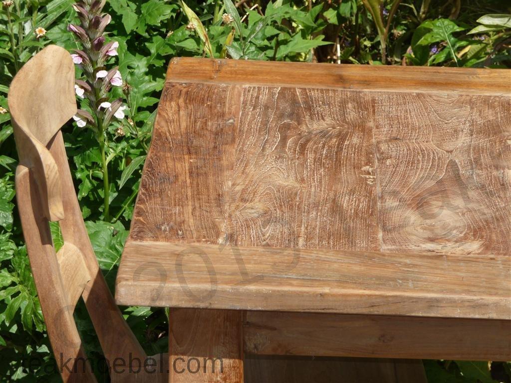 Teak Tisch altes Holz 80 x 80 cm | Teakmöbel.com