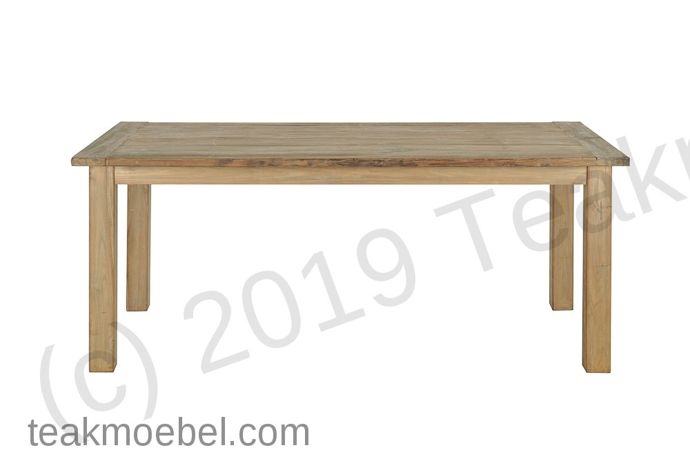 teak tisch aus altem holz 200 x 100 cm teakm. Black Bedroom Furniture Sets. Home Design Ideas