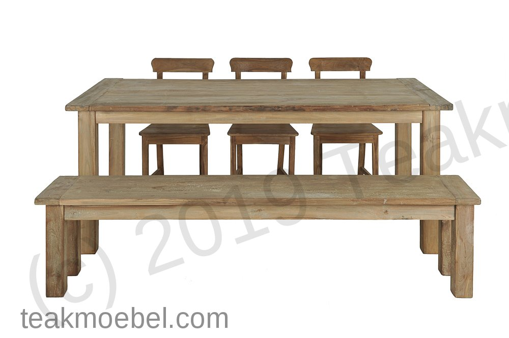 teak tisch aus altem holz 200 x 100 cm. Black Bedroom Furniture Sets. Home Design Ideas