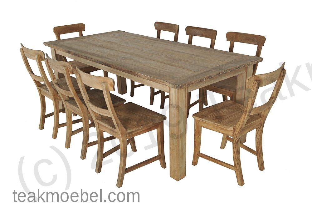 teak tisch aus altem holz 200 x 100 cm. Black Bedroom Furniture Sets. Home Design Ideas