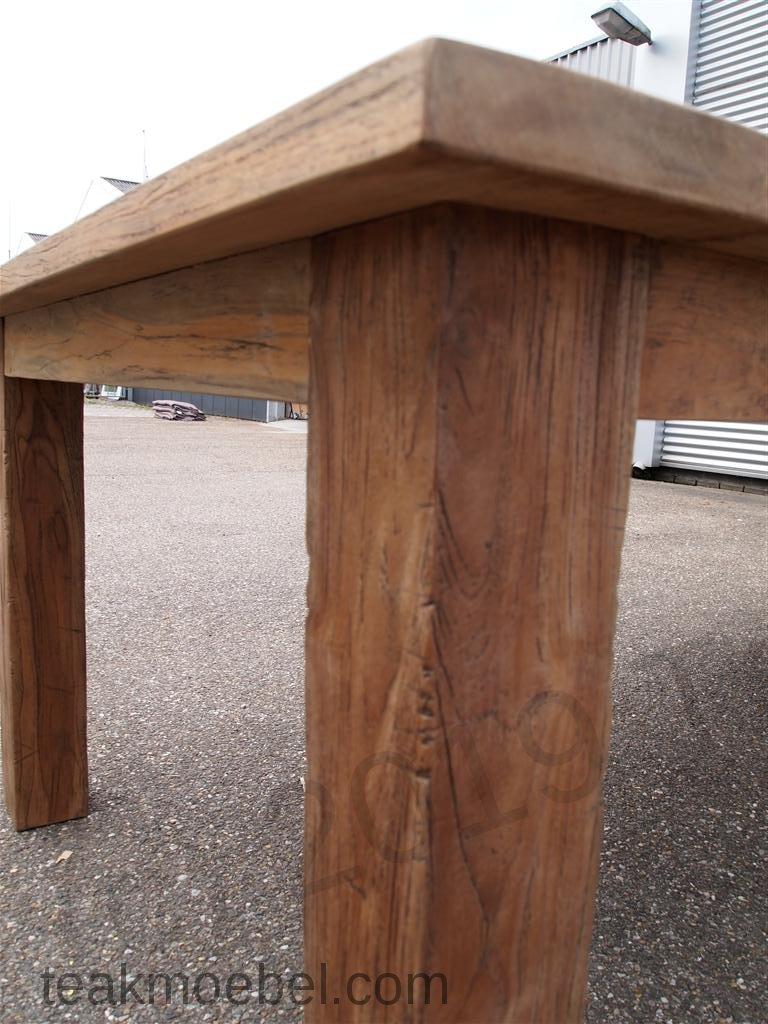teak tisch altes holz 450 x 120 cm teakm. Black Bedroom Furniture Sets. Home Design Ideas