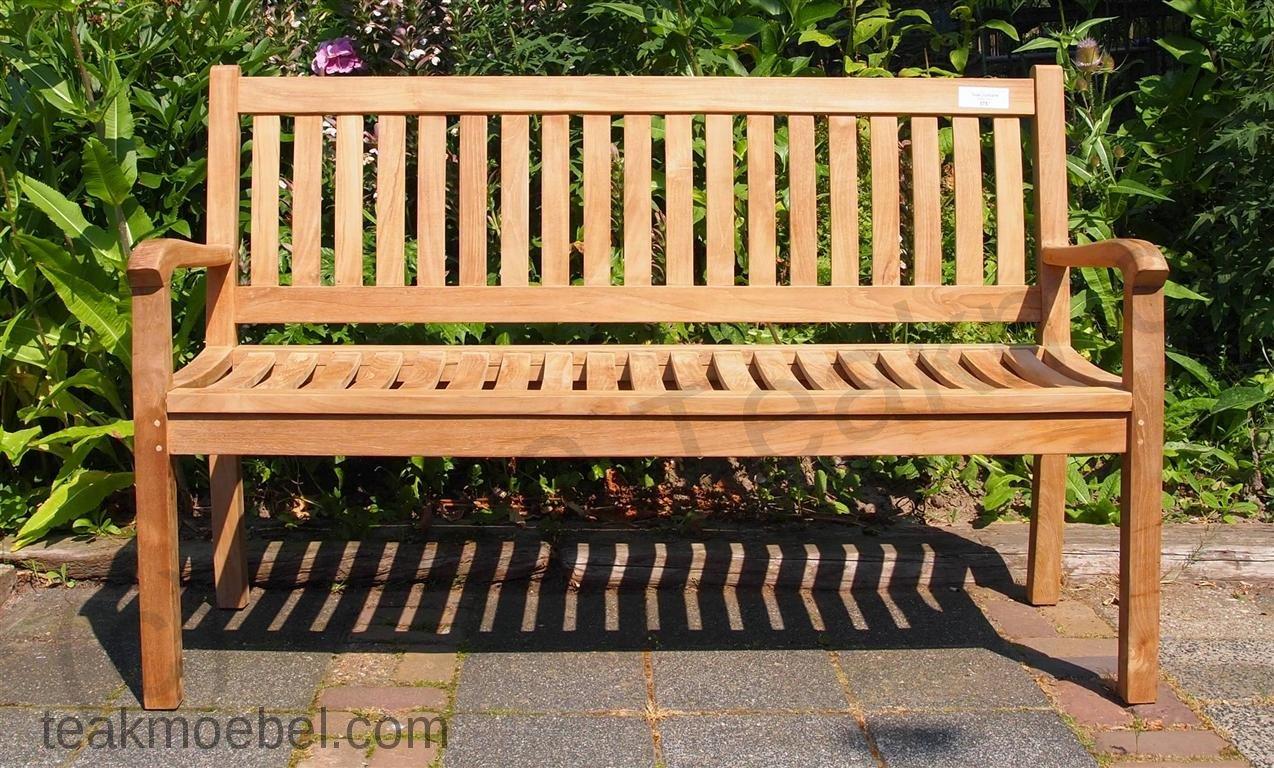 Teak Holz Gartenbank 150 Cm Beaufort   Bild 1