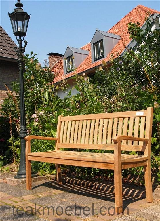 Teak Holz Gartenbank 150 Cm Beaufort