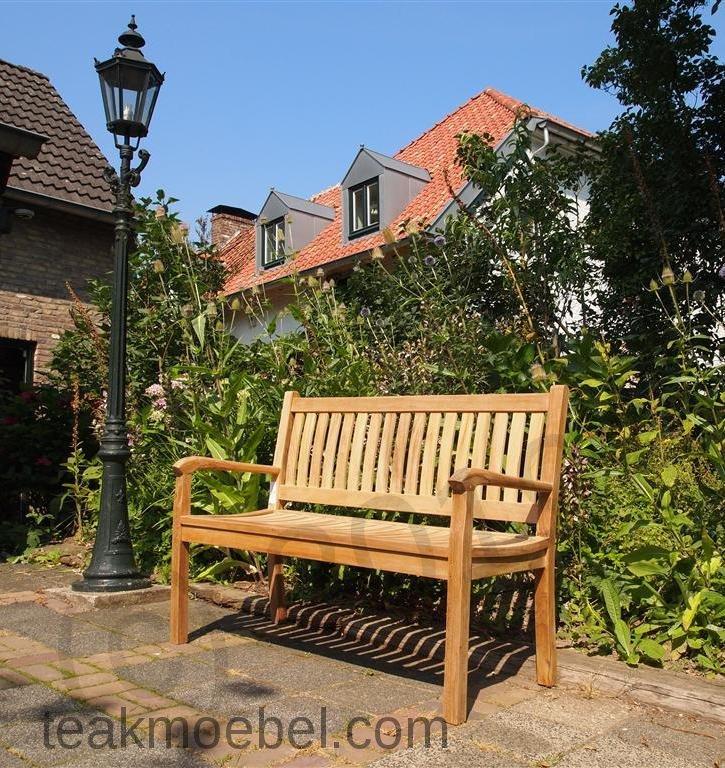 Teak Holz Gartenbank 130 Cm Beaufort