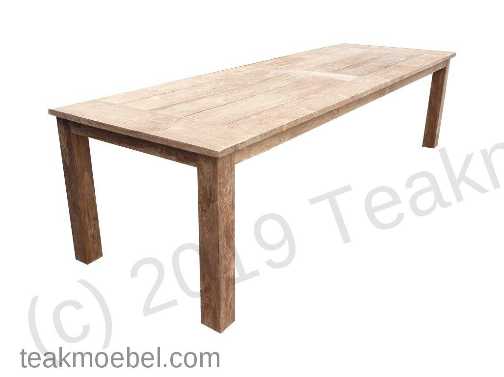 Teak Gartentisch 300 X 100 Cm Teakmobel Com