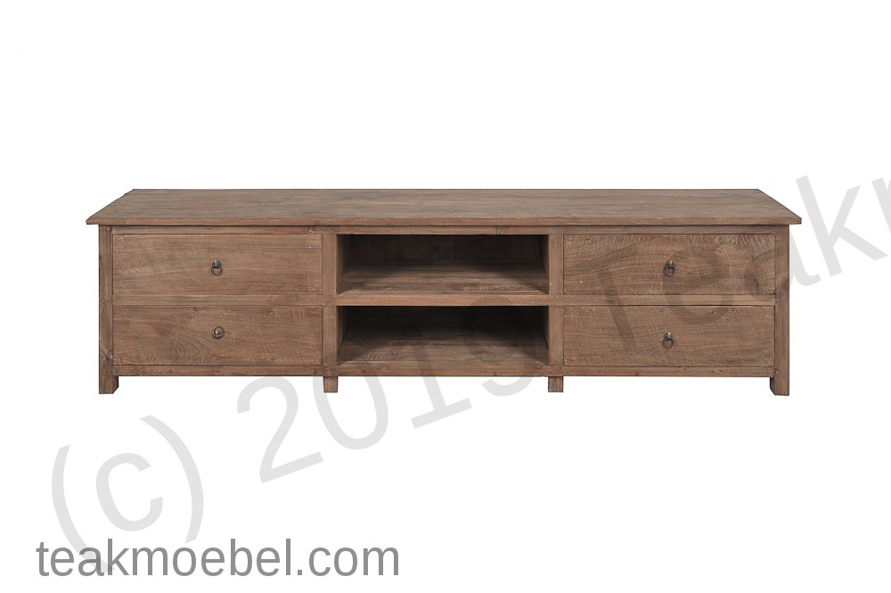 teak tv board rustikal 200cm teakm. Black Bedroom Furniture Sets. Home Design Ideas