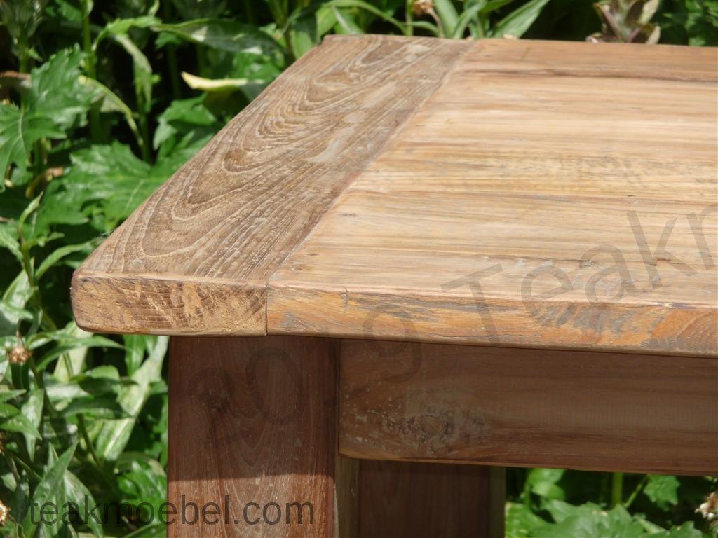 teak tisch aus altem holz 140 x 90 cm teakm. Black Bedroom Furniture Sets. Home Design Ideas