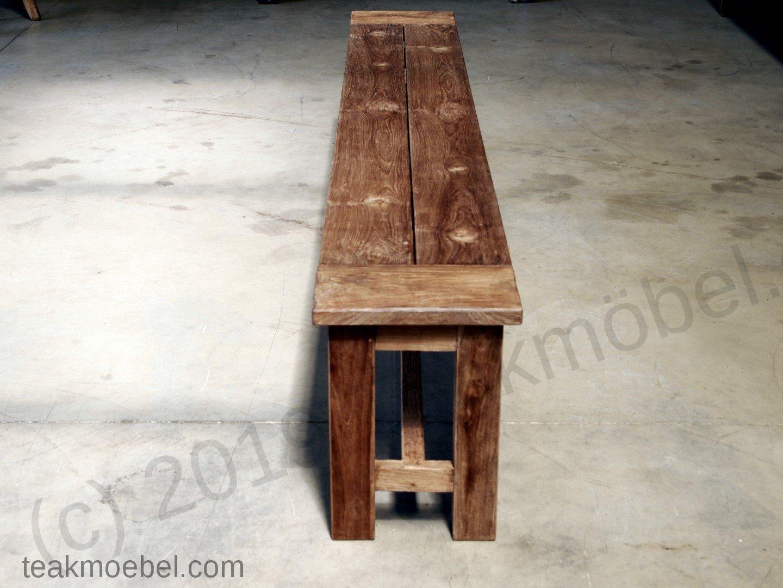 Teak Gartenbank Ohne Lehne 300cm | Teakmoebel.com