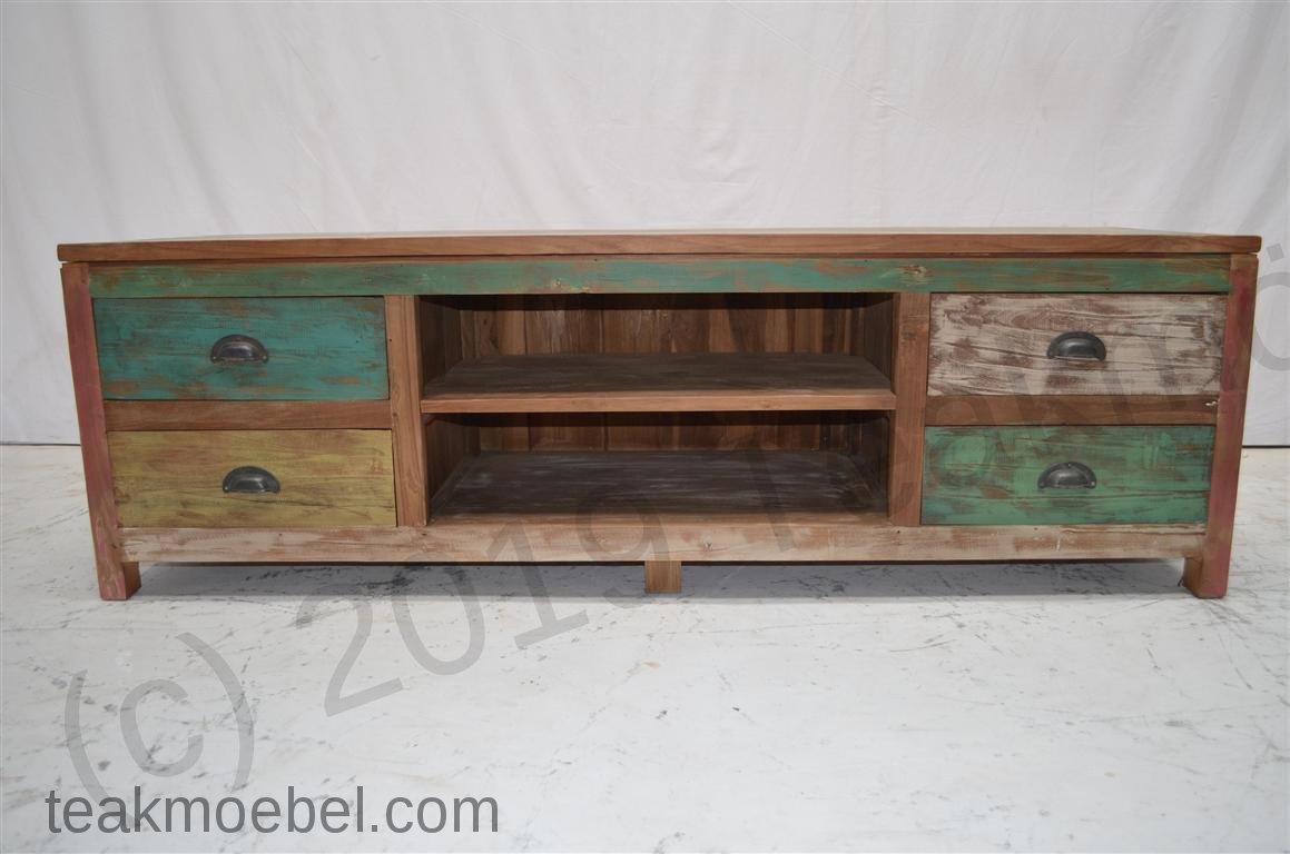 teak fernsehm bel paint 160x50x50cm teakm. Black Bedroom Furniture Sets. Home Design Ideas