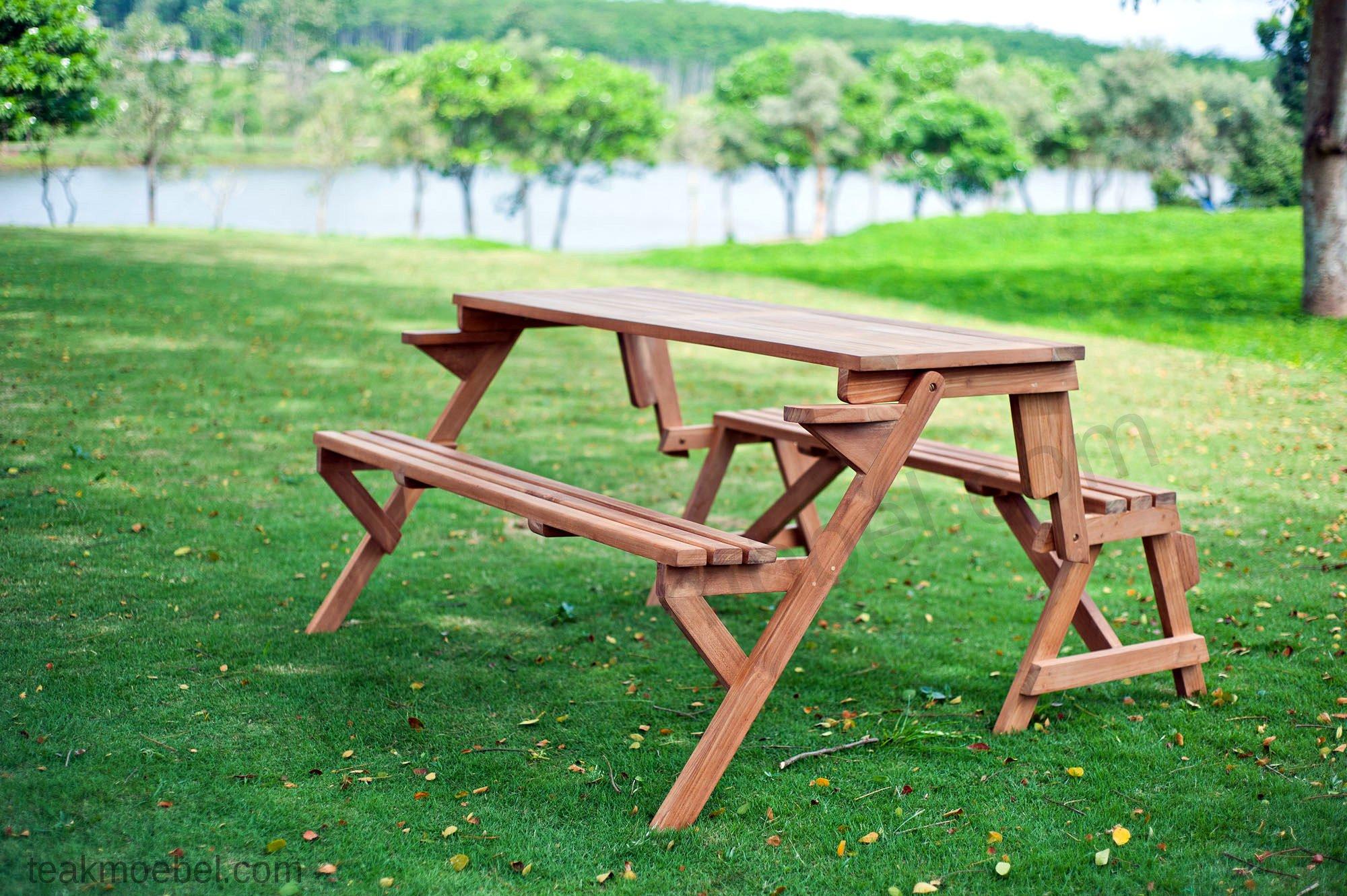 teakholz picknicktisch teakm. Black Bedroom Furniture Sets. Home Design Ideas