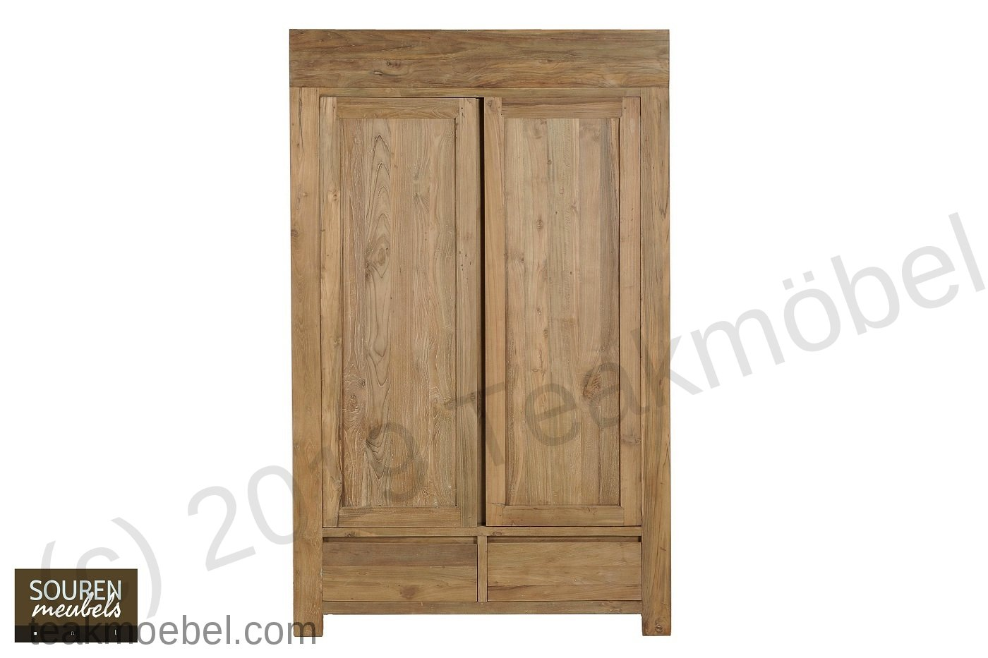 teak kleiderschrank modern teakm. Black Bedroom Furniture Sets. Home Design Ideas