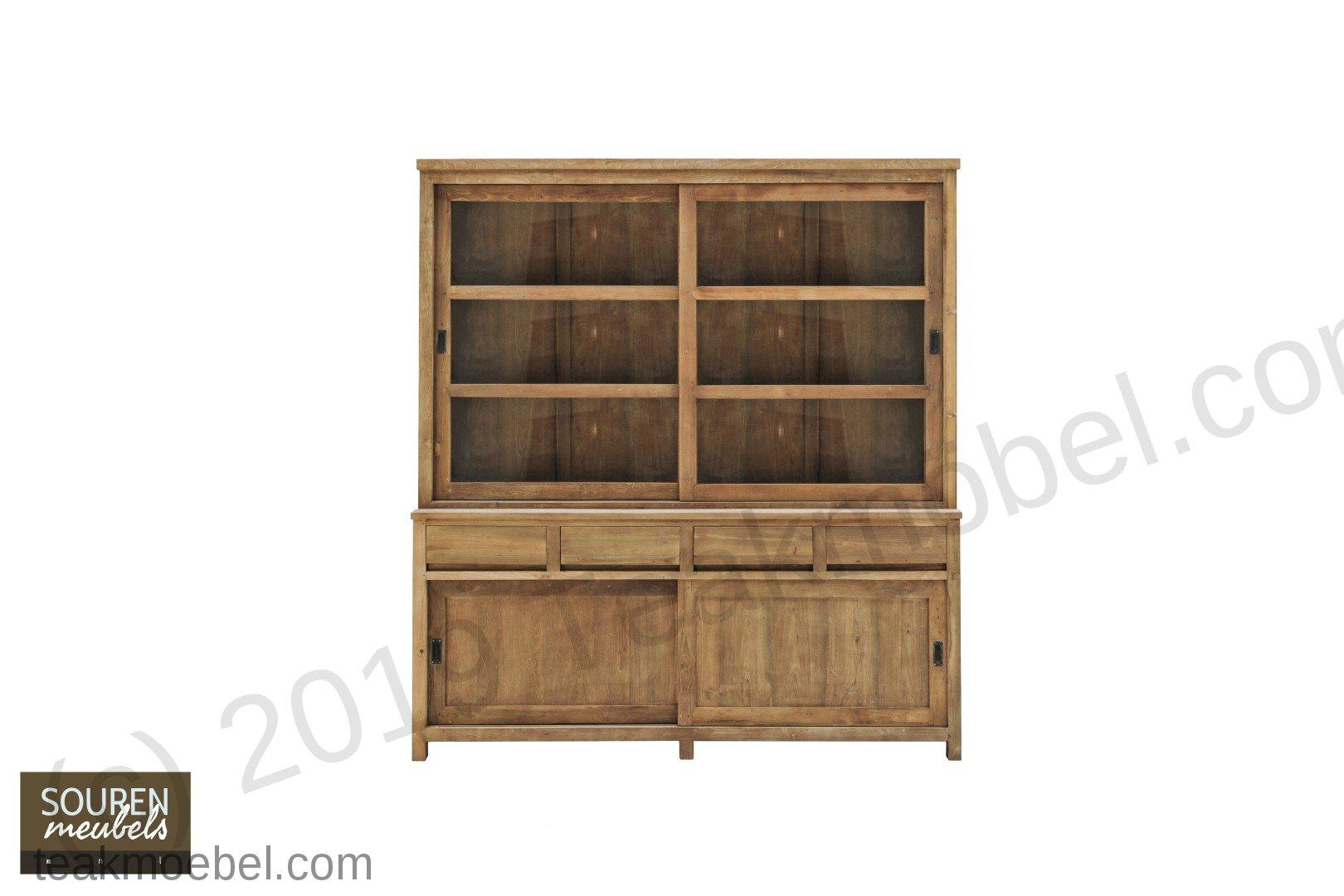 teak schrank 200cm modern teakm. Black Bedroom Furniture Sets. Home Design Ideas