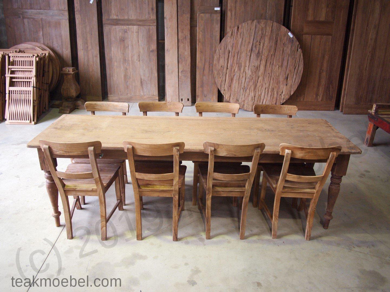 Teak tisch antik 8 st hle teakm for Tisch antik