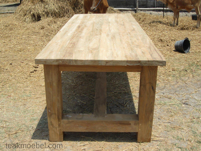 teak tisch mammut indoor 220 teakm. Black Bedroom Furniture Sets. Home Design Ideas
