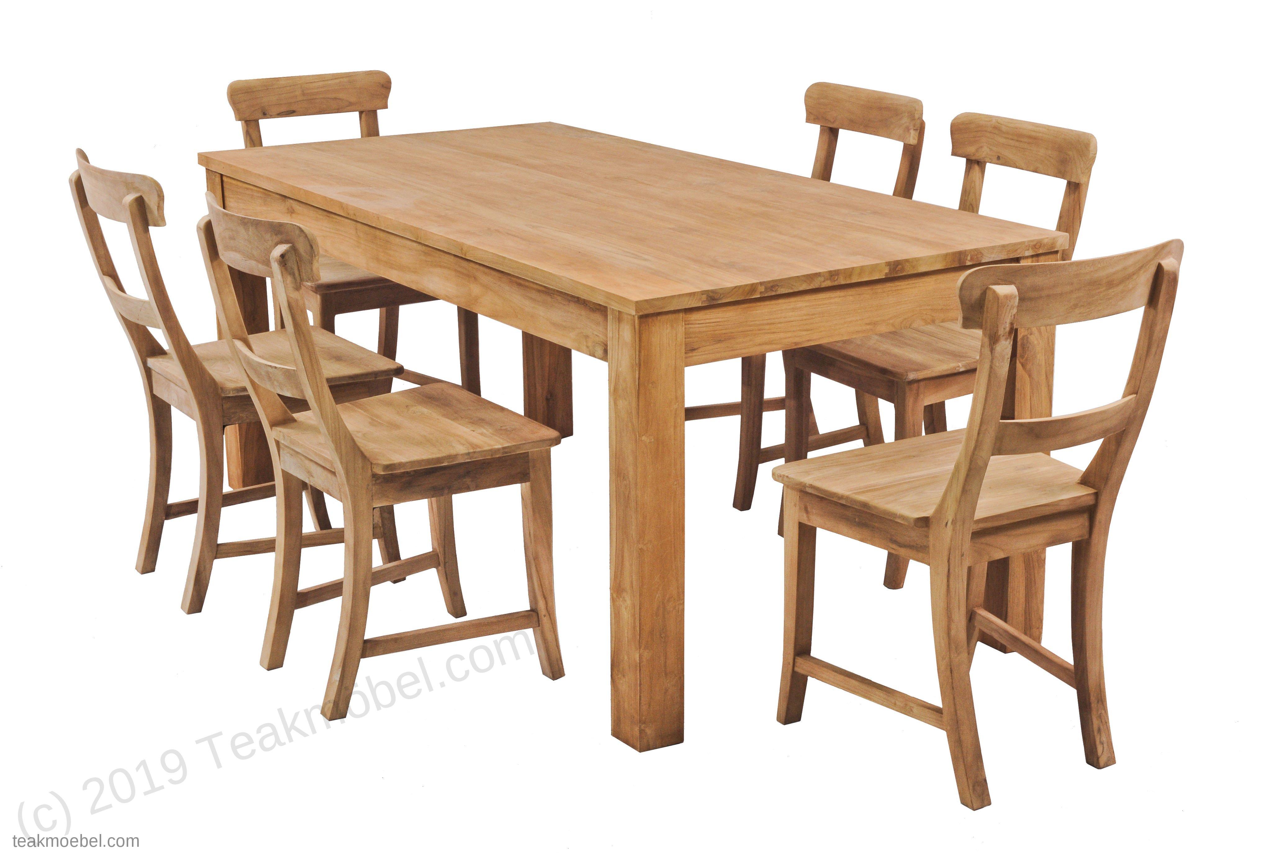 Teak Tisch 160x90cm 6 Stühle