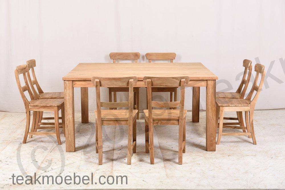 teak esstisch quadratisch 160x160 teakm. Black Bedroom Furniture Sets. Home Design Ideas