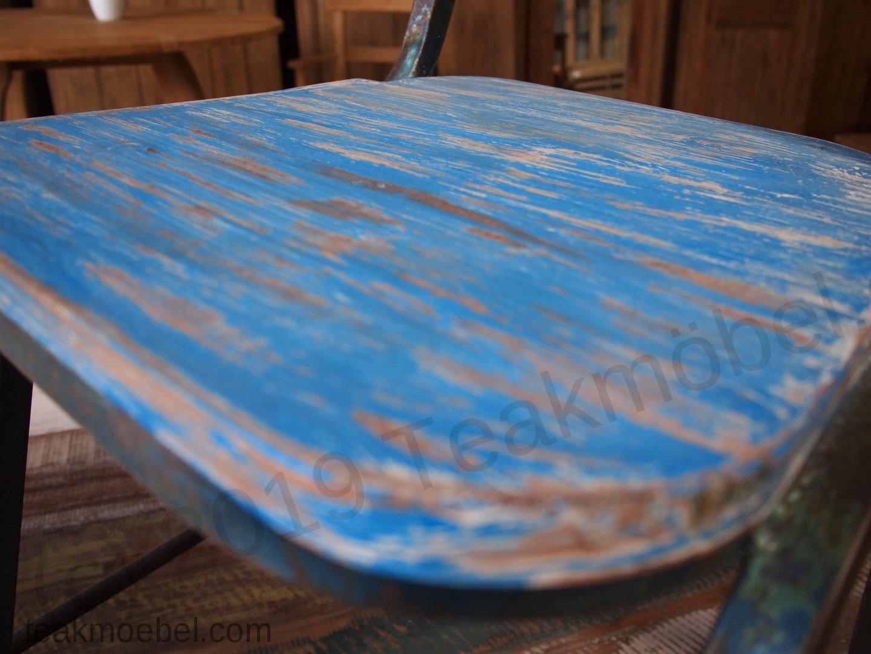 Teak Tisch Shabby Chic + 8 Stühle | Teakmöbel.com