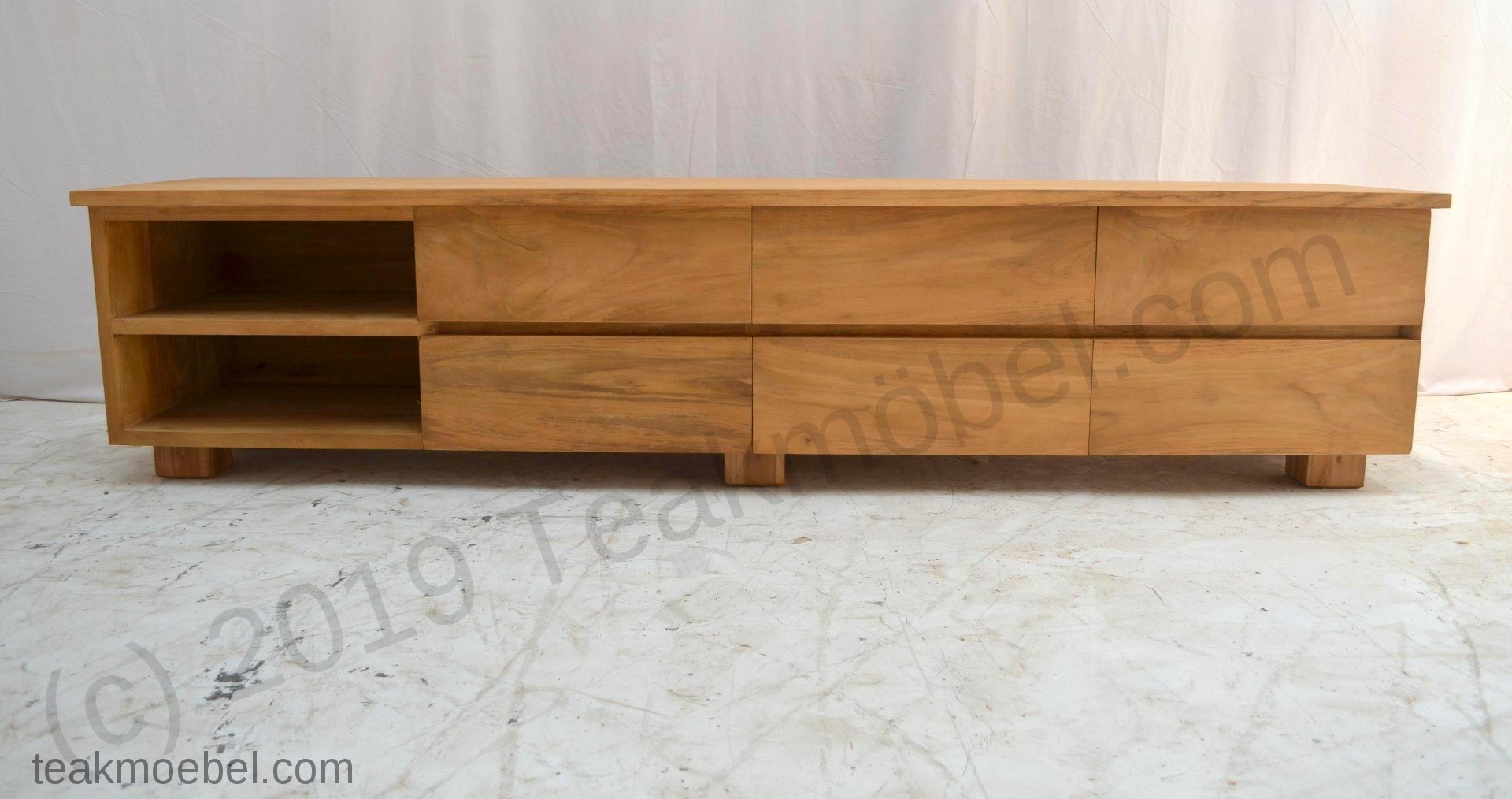 teak fernsehmoebel 220cm massanfertigung teakm. Black Bedroom Furniture Sets. Home Design Ideas
