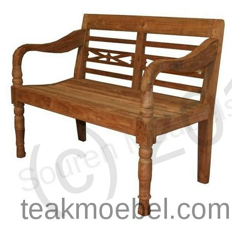teak holz zweisitzer bahnhofbank. Black Bedroom Furniture Sets. Home Design Ideas