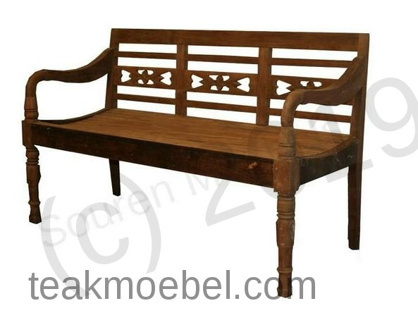 teak holz bahnhofbank dreisitz. Black Bedroom Furniture Sets. Home Design Ideas
