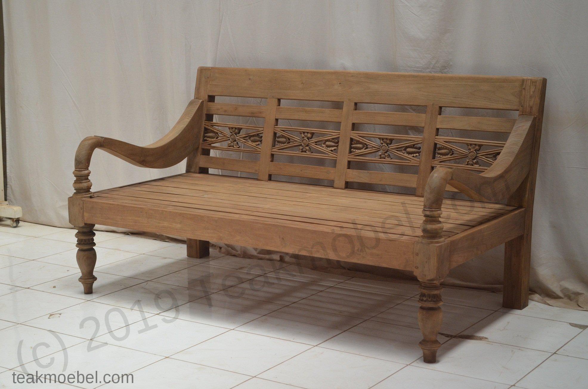 bahnhofsbank teak antik xl teakm. Black Bedroom Furniture Sets. Home Design Ideas