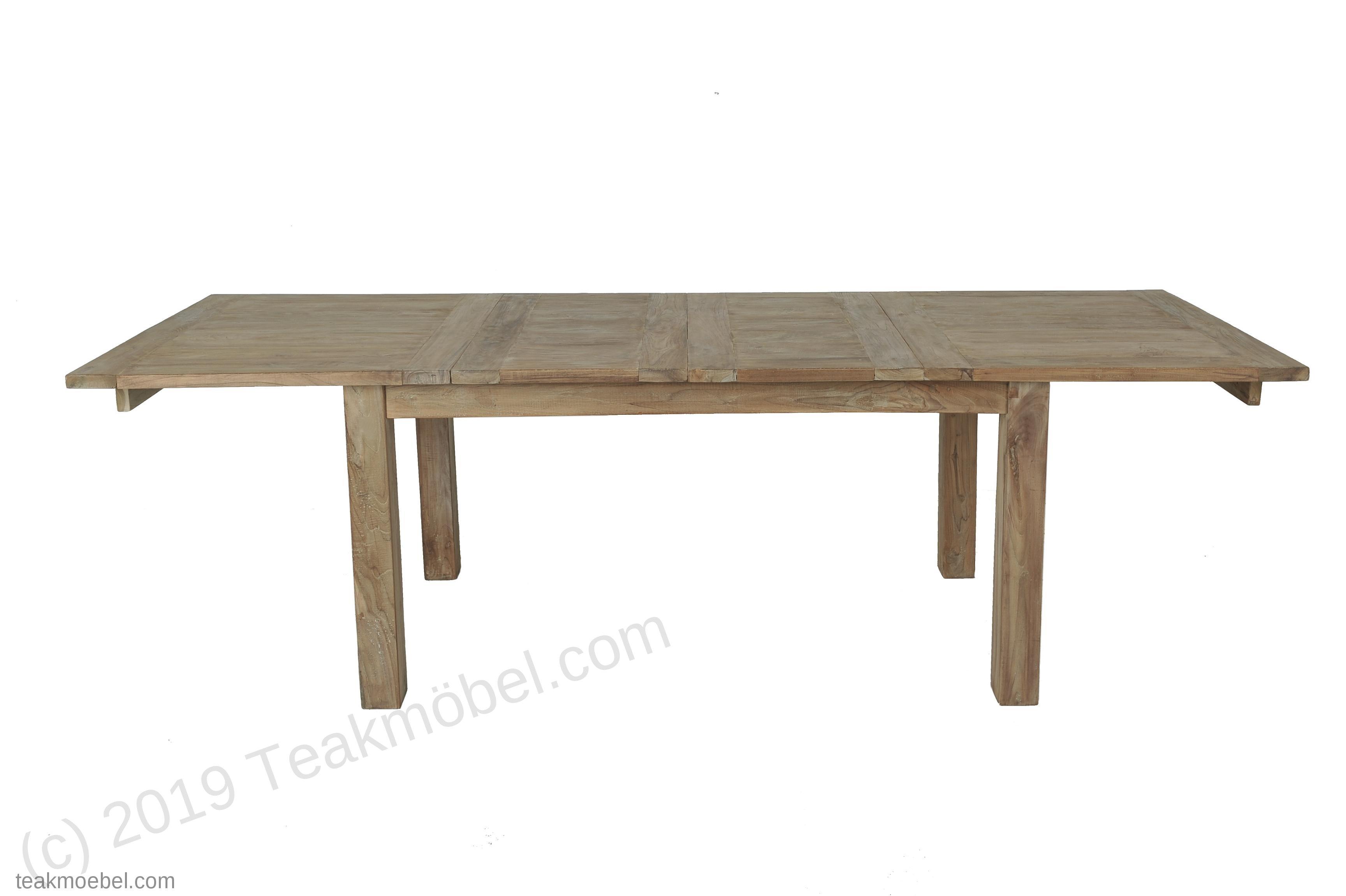 teakholz tisch ausziehbar 160 210 260x90 bild 2 - Teakholz Tische Stilvoll Und Die Zeitlose Mobel