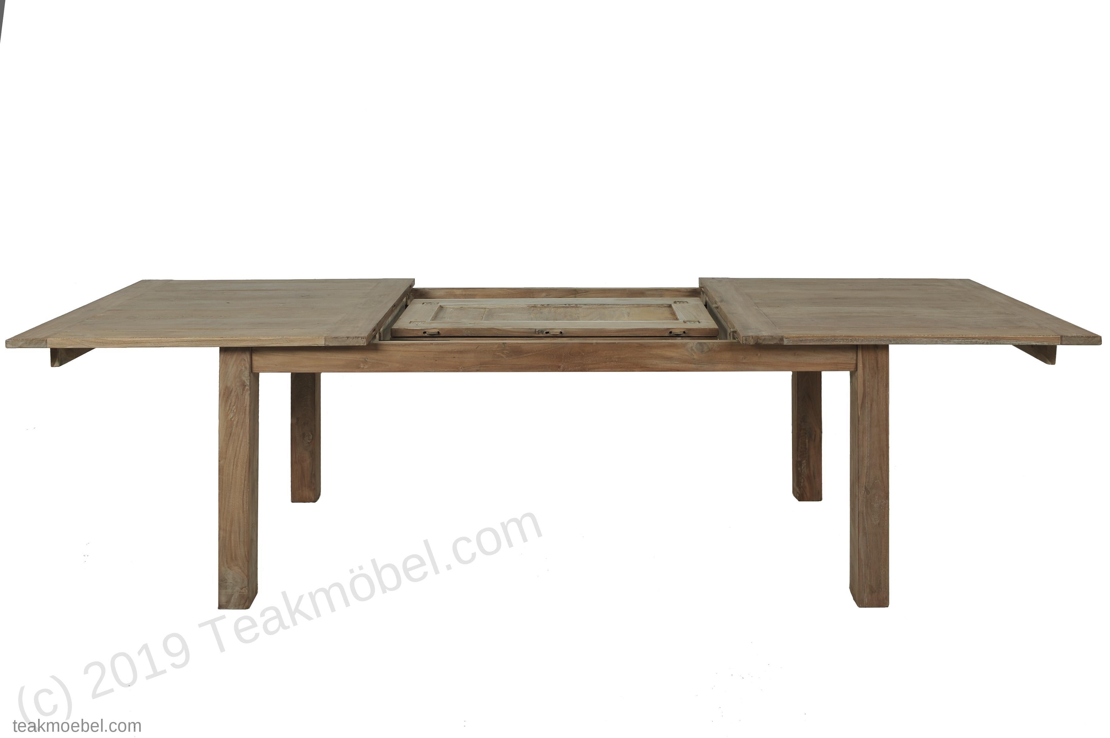 teakholz tisch ausziehbar 250 300 350x100 teakm. Black Bedroom Furniture Sets. Home Design Ideas