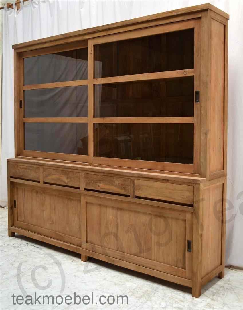 teak schrank 240cm modern teakm. Black Bedroom Furniture Sets. Home Design Ideas