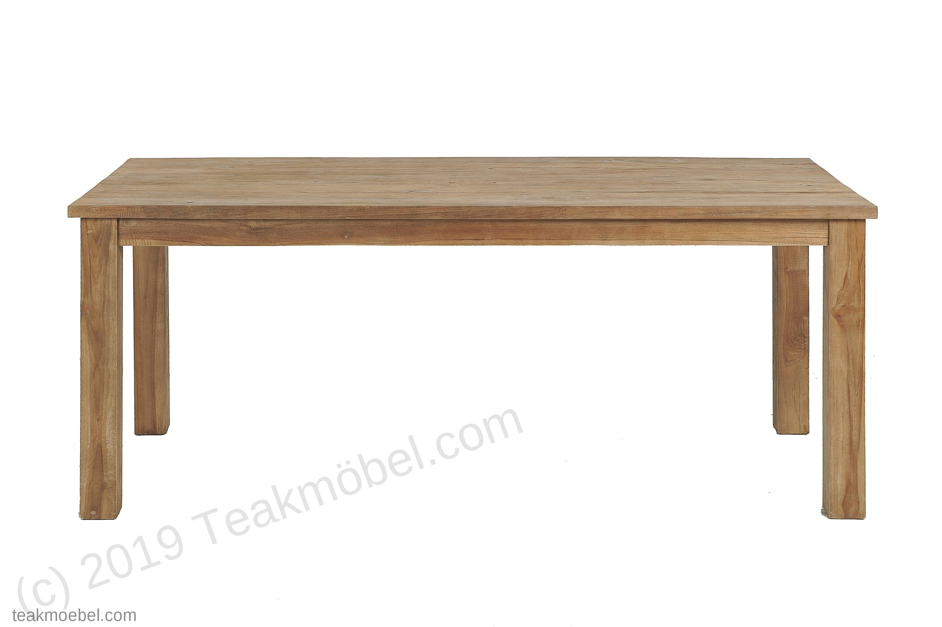 teak tisch geb rstet 200 x 100 teakm. Black Bedroom Furniture Sets. Home Design Ideas