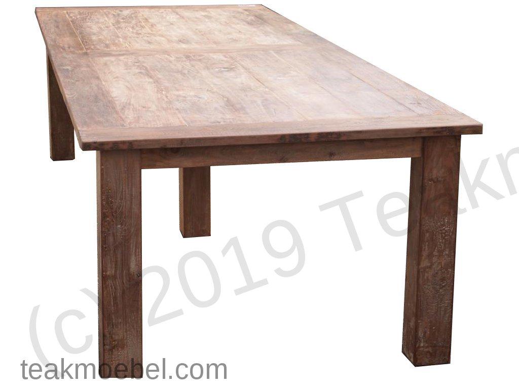 teak tisch altes holz 320 x 120 cm bild 7 - Teakholz Tische Stilvoll Und Die Zeitlose Mobel