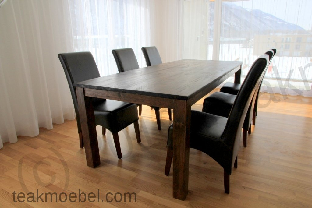 teak tisch kolonialstil 220 x 100 cm. Black Bedroom Furniture Sets. Home Design Ideas
