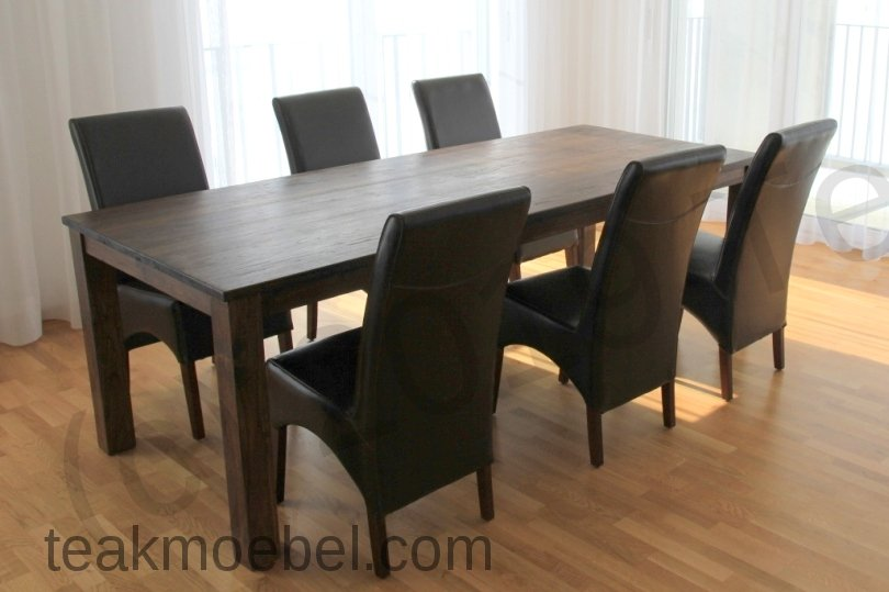 teak tisch kolonialstil 220 x 100 cm teakm. Black Bedroom Furniture Sets. Home Design Ideas
