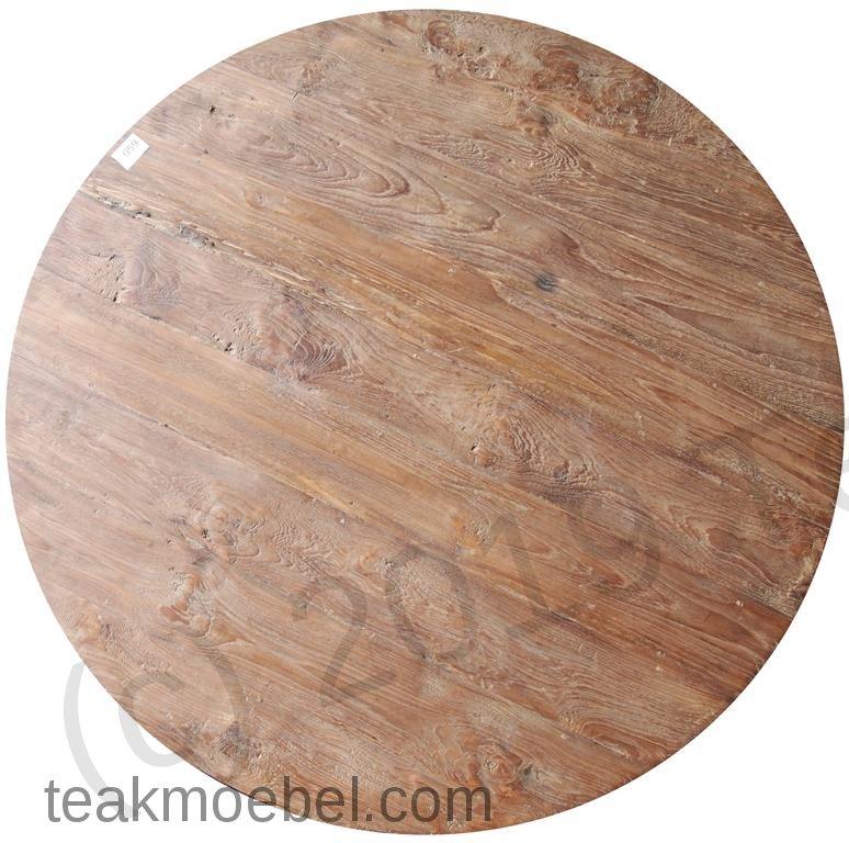 Teak Tisch Rund O 160 Cm Altes Holz Teakmobel Com