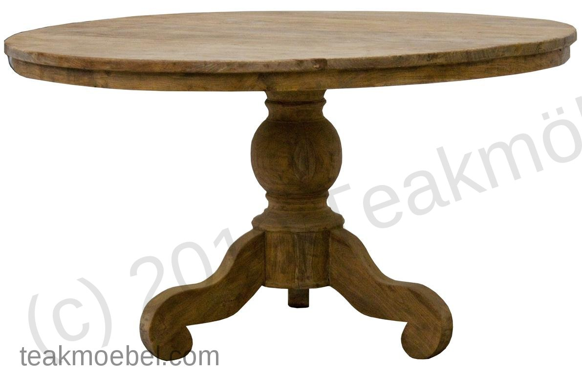 teak tisch rund 110 cm altes holz teakm. Black Bedroom Furniture Sets. Home Design Ideas