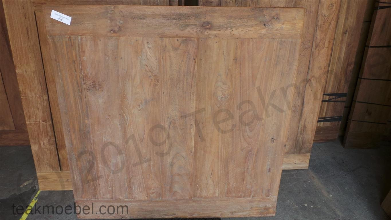 old teak esstisch quadratisch 120x120 teakm. Black Bedroom Furniture Sets. Home Design Ideas